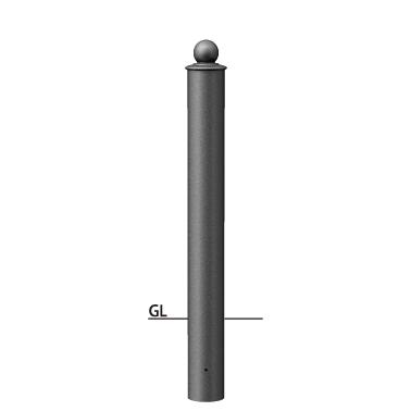 ####u.サンポール/SUNPOLE【V-380U】アルミボラード セラミック塗装 φ115 固定式 受注約3週