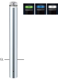 ####u.サンポール/SUNPOLE【V-S231U-SOL(G)】ソーラーLEDボラード グリーン φ114.3 ステンレス製 点灯式 固定式 受注約3週