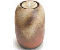 ###£三栄水栓/SANEI【EW20-S-4】インテリア水琴窟(屋内用) 柄名:火色古信楽 受注生産