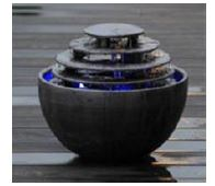 ###£三栄水栓/SANEI【EW210】インテリアLED琴音ボール(屋内用) 柄名:いぶし銀 受注生産