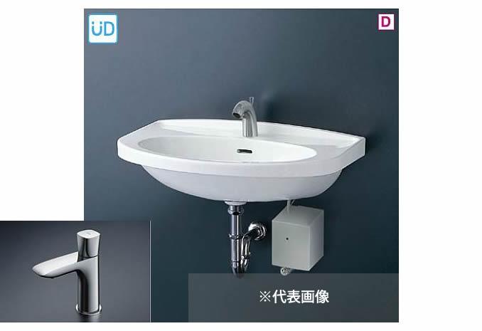 ###TOTO 壁掛洗面器 セット品番【L260C+TLG04101J】立水栓 床排水金具(Sトラップ)