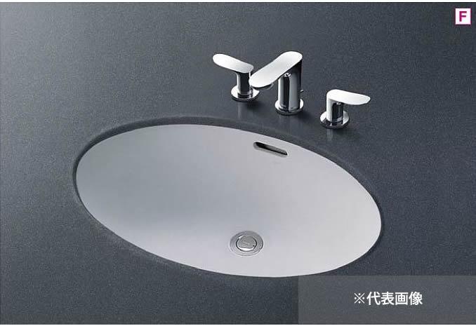 ###TOTO カウンター式洗面器 セット品番【L548U+TLG01201J】アンダーカウンター式 台付シングル混合水栓(エコシングル) 壁排水金具(Pトラップ)