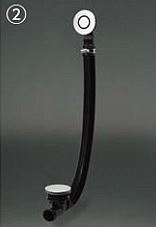 ###TOTO 洋風バス用排水金具【PZ6184】PAY1400専用 ワンプッシュ排水栓式 横引き排水 受注生産