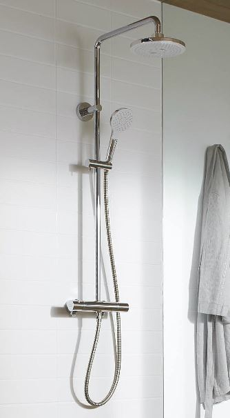 TOTO 水栓金具【TBW01405J】シャワーバー 壁付サーモスタット コンフォートウエーブ ウォームピラー