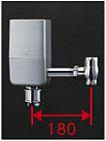 ###TOTO 給水金具【TEFV80EC】自動フラッシュバルブ ウォシュレット連動タイプ オートクリーンC 露出タイプ 床給水 再生水 受注生産