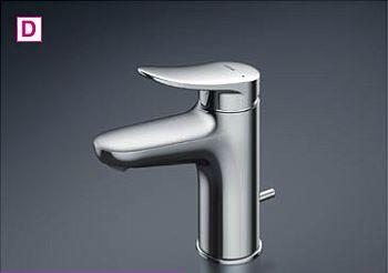 ◆@在庫有り!台数限定!TOTO 洗面所用水栓【TLS04302J】GAシリーズ 台付1穴 シングル 逆止弁 ワンプッシュ式 エコシングル