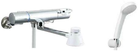 INAX シャワーバス水栓【BF-WM145TYSG】クロマーレS サーモスタット付シャワーバス水栓 エコフルスプレーシャワー 呼び径13mm 吐水口長さ200mm