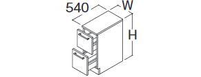 最先端 252mm) カウンター高さ750 部材【LBFA025AKG1】ハイクラス ###TOTO フロアキャビネット オクターブ 間口250mm(実寸法 受注約1週:あいあいショップさくら-木材・建築資材・設備