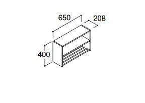###INAX/LIXIL 洗面化粧台 エルシィ【LCVKO-652】ランドリーキャビネット 間口650mm オープンタイプ 受注生産
