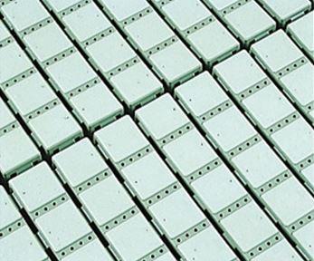 ####u.テラモト 環境美化用品【MR-063-180-1】スノコ素足用 グリーン (1平方メートル)