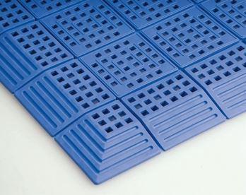 ####u.テラモト 環境美化用品【MR-064-180-3】タッチマット2 青 (1平方メートル)