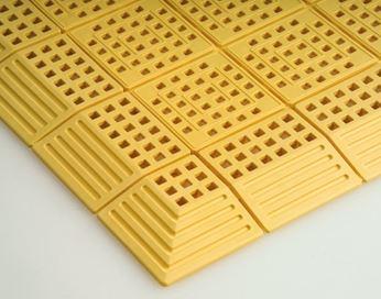 ####u.テラモト 環境美化用品【MR-064-180-5】タッチマット2 黄 (1平方メートル)