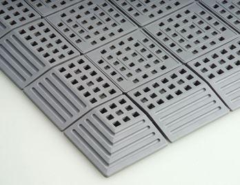 ####u.テラモト 環境美化用品【MR-064-180-7】タッチマット2 灰 (1平方メートル)