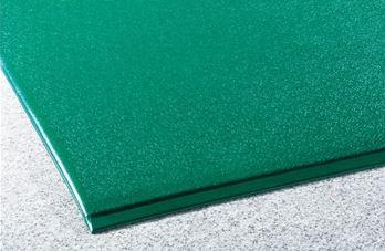 ####u.テラモト 環境美化用品【MR-069-050-1】テラクッション 極厚 グリーン 1200×5000