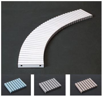 ####u.テラモト 環境美化用品【MR-074-025-3】樹脂グレーチング(プール用) 250mm幅 ブルー 250×1000mm