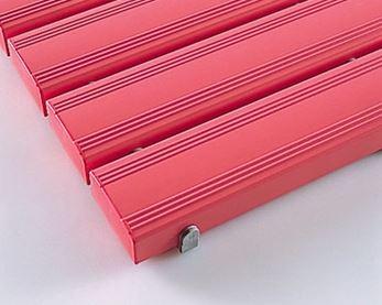 ####u.テラモト 環境美化用品【MR-093-245-5】抗菌安全スノコ(組立なし)ピンク 600x1800 受注生産
