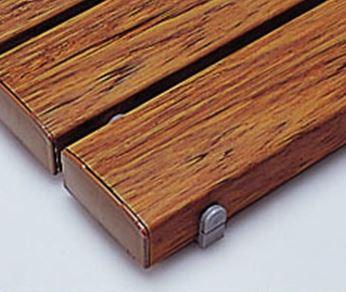 ####u.テラモト 環境美化用品【MR-093-245-9】抗菌安全スノコ(組立なし)木調 600x1800 受注生産