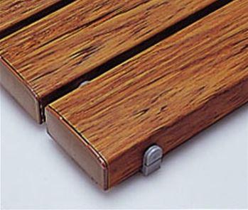 ####u.テラモト 環境美化用品【MR-093-345-9】抗菌安全スノコ(組立品)木調 600x1800 受注生産