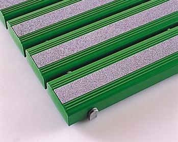 ####u.テラモト 環境美化用品【MR-098-443-1】抗菌滑り止め安全スノコ組立品 緑 600x1200 受注生産