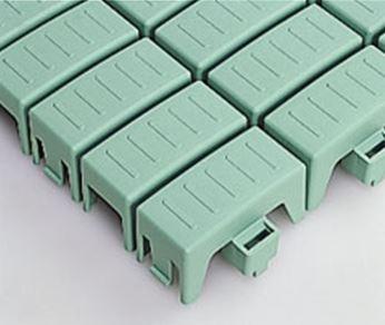 ####u.テラモト 環境美化用品【MR-110-080-1】エコTKブロックスノコ グリーン (1平方メートル)