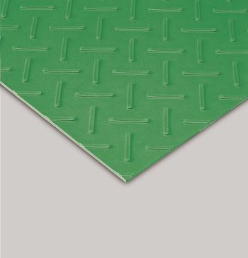 ####u.テラモト 環境美化用品【MR-151-105-1】エスゴムマット 5mm厚 緑 1m×10m