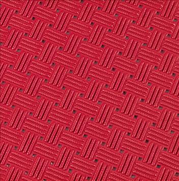 ####u.テラモト 環境美化用品【MR-159-000-2】ダイヤマットグリッド 赤 92cm×10m