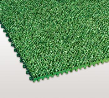 ####u.テラモト 環境美化用品【MR-003-080-1】ハードターフマット 緑 (1平方メートル)