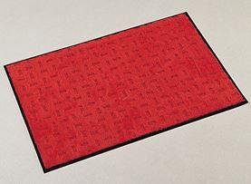 ####u.テラモト 環境美化用品【MR-026-156-2】雨天用マット エコレイン レッド 90cm×20m