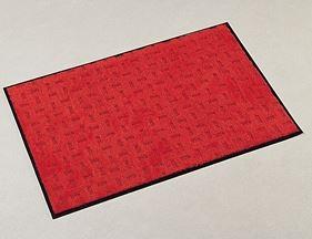 ####u.テラモト 環境美化用品【MR-026-180-2】雨天用マット エコレイン レッド (1平方メートル)