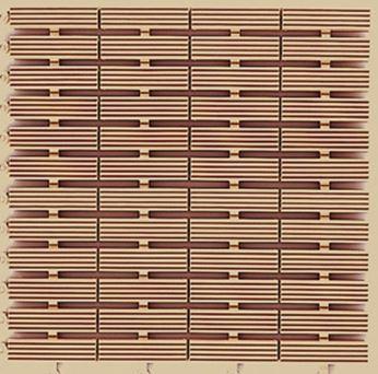 ####u.テラモト 環境美化用品【MR-080-080-6】フリーラインマット ベージュ (1平方メートル)