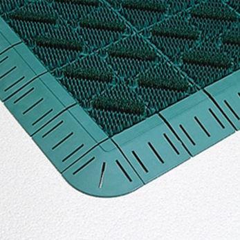####u.テラモト 環境美化用品【MR-096-080-1】カラーブラッシュ 緑 (1平方メートル)