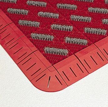 ####u.テラモト 環境美化用品【MR-096-080-2】カラーブラッシュ 赤 (1平方メートル)