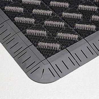 ####u.テラモト 環境美化用品【MR-096-080-5】カラーブラッシュ 灰 (1平方メートル)