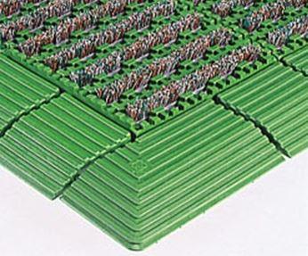 ####u.テラモト 環境美化用品【MR-097-080-1】ナイロンブラッシュ H-30 緑 (1平方メートル)