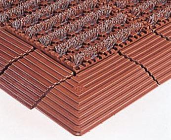 ####u.テラモト 環境美化用品【MR-097-080-7】ナイロンブラッシュ H-30 茶 (1平方メートル)