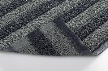 ####u.テラモト 環境美化用品【MR-137-148-8】ケミタングル ストライプM 灰/黒 900×1800 受注生産