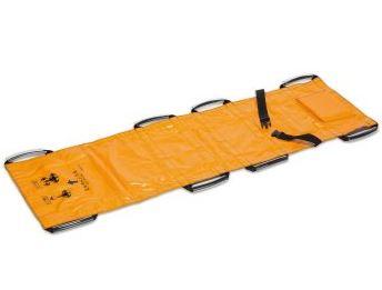####u.テラモト 環境美化用品【OT-150-901-5】ターポリン救護担架 オレンジ