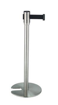 ####u.テラモト 環境美化用品【SU-660-500-7】ベルトパーテーションスタンドD ステン ベルト黒