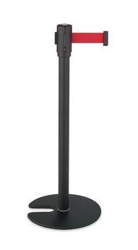####u.テラモト 環境美化用品【SU-660-510-2】ベルトパーテーションスタンドD スチール ベルト赤