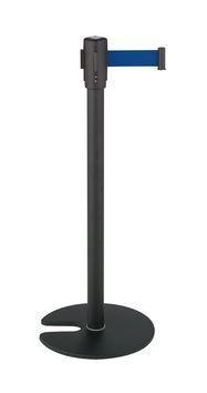 ####u.テラモト 環境美化用品【SU-660-510-3】ベルトパーテーションスタンドD スチール ベルト青