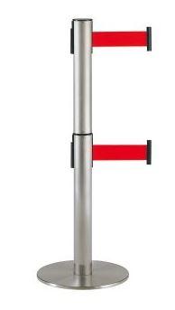 ####u.テラモト 環境美化用品【SU-661-620-2】2段式ベルトパーテーション シグナルレッド