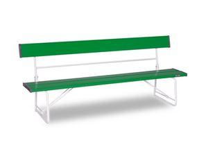 ####u.テラモト 環境美化用品【BC-300-018-1】ベンチ(背付)1800 緑