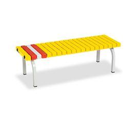 ####u.テラモト 環境美化用品【BC-302-012-6】ホームベンチ 1200 黄 受注生産