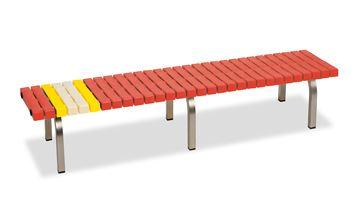 ####u.テラモト 環境美化用品【BC-302-318-2】ホームベンチ ステン 1800 赤 受注生産
