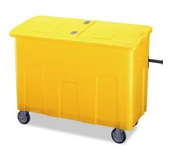 ####u.テラモト 環境美化用品【DS-224-070-6】リサイクルカートアウトバー 0.7(約700L) イエロー