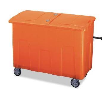 ####u.テラモト 環境美化用品【DS-224-070-7】リサイクルカートアウトバー 0.7(約700L) オレンジ