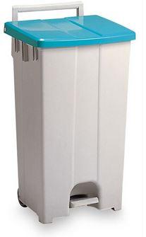 ####u.テラモト 環境美化用品【DS-224-309-1】ボックスカート 90 緑/白 90リットル 受注生産
