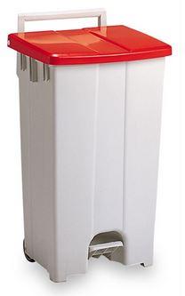 ####u.テラモト 環境美化用品【DS-224-309-2】ボックスカート 90 赤/白 90リットル 受注生産