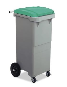 ####u.テラモト 環境美化用品【DS-224-511-1】リサイクルカート#110 搬送型 グリーン