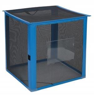 ####u.テラモト 環境美化用品【DS-261-012-9】自立ゴミ枠 折りたたみ式 黒 700×700×700